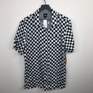 Men's Checked Vans Button Down Size Large